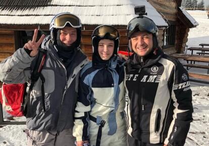 Владимир Зеленский на горнолыжном курорте