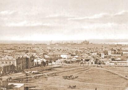 Таганрог — загальний вигляд міста, XIX століття/pastvu.com