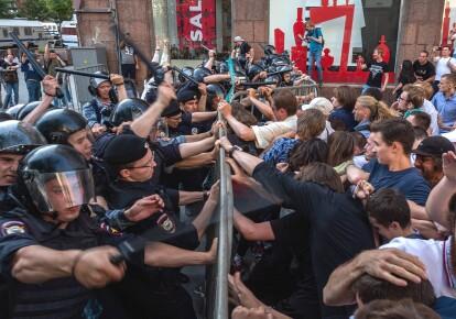 Протесты в России