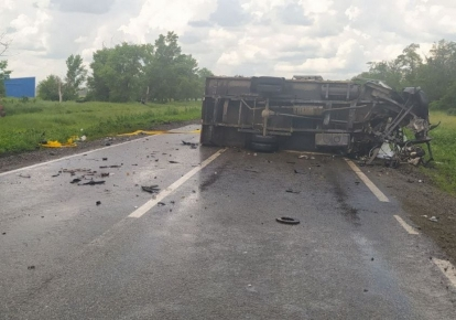 Авария произошла на трассе Чугуев-Меловое