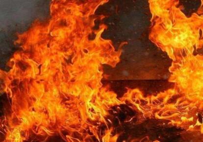 На окраине Макеевки произошел масштабный пожар