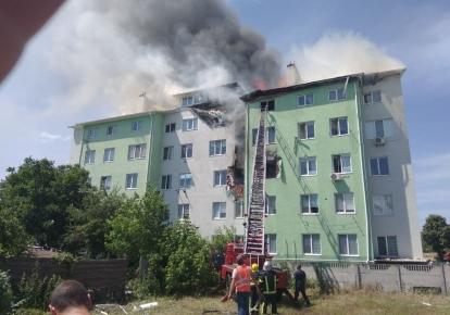 """Пожар в Белогородке/ФОТО: """"ДС"""""""
