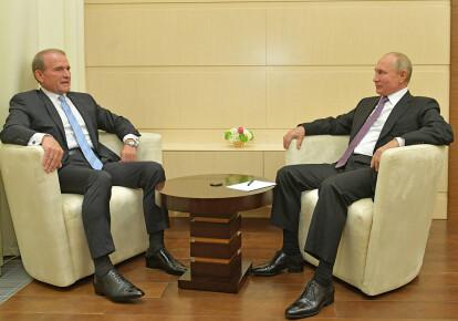 Виктор Медведчук и Владимир Путин. Фото с сайта ОПЗЖ