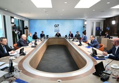 Робоче засідання саміту G7 в Карбіс-Бей, Корнуолл, 12 червня 2021 р.