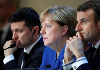 Зеленський, Меркель і Макрон