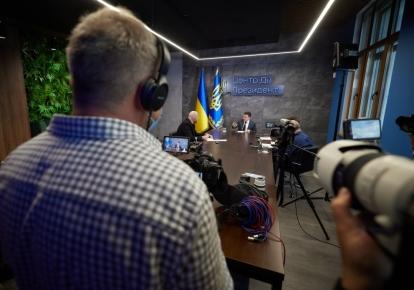 Интервью Владимира Зеленского журналистам Agence France-Presse, Reuters и Associated Press