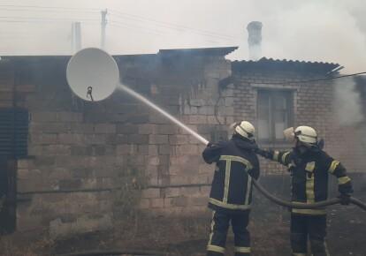 Тушение пожара на Луганщине
