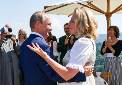 Владимир Путин и Карин Кнайсль