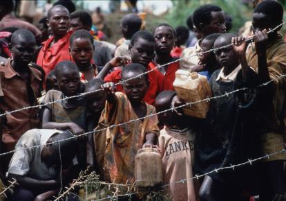Біженці з Руанди в Танзанії в 1994 р.