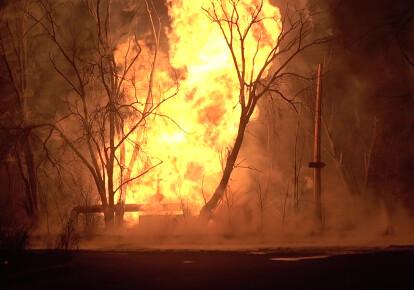 Взрыв на газопроводе в Луганске