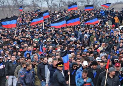 """Резервисты так называемой """"армии ДНР"""" во время военной подготовки, 2017 г."""