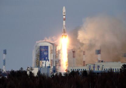 Запуск ракеты Союз-2.1б с космодрома Восточный