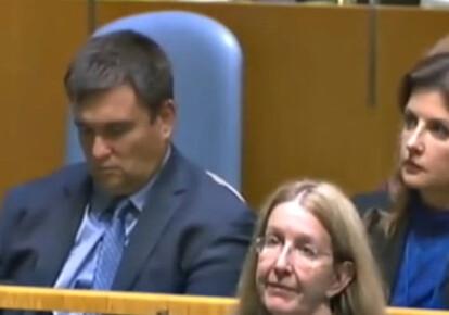 авел Климкин задремал во время выступления президента Петра Порошенко на сессии Генассамблеи ООН