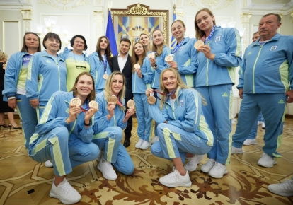 Володимир Зеленський та українські медалісти Олімпійських ігор