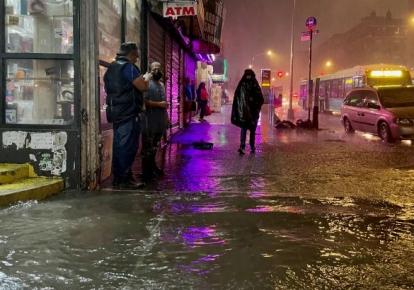 Наводнение в Нью-Йорке