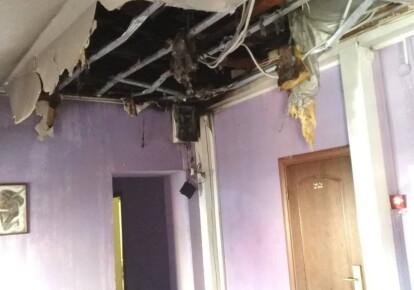 Последствия пожара в отеле во Львове