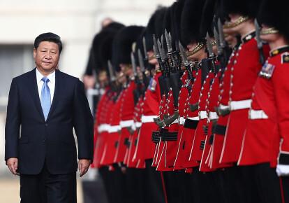 Си Цзиньпин во время визита в Великобританию, 2015 г.