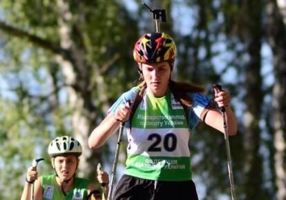 Биатлонистка Алина Мирошниченко