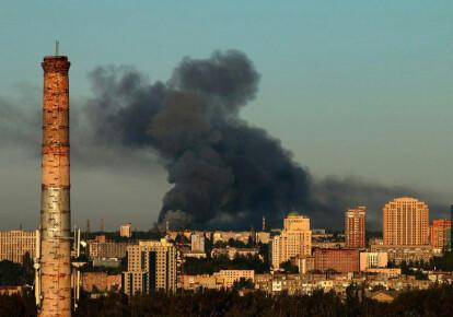 В Донецке произошел масштабный пожар на складе боеприпасов . Фото: donbass.live