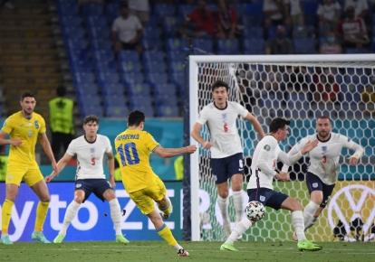 Момент сборной Украины у ворот английской команды