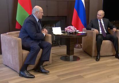 Зустріч Олександра Лукашенка з Володимиром Путіним