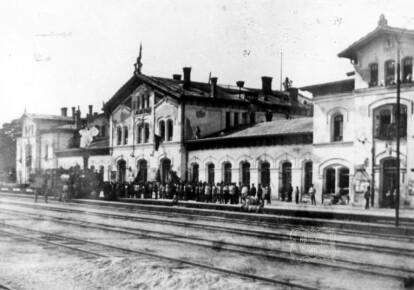 Залізничний вокзал в Єлисаветграді в 1920 р. Фото з особистої колекції Юрія Тютюшкіна