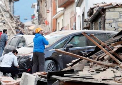 Разрушения после землетрясения в Италии в августе 2016-го