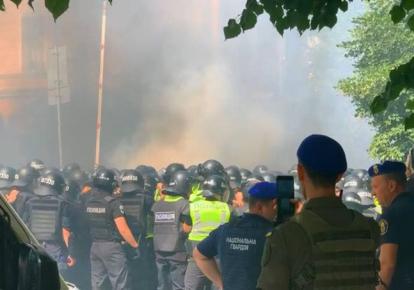 Правоохранители на акции протеста