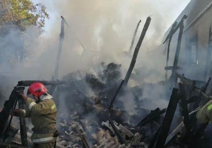 Вогонь знищив 10 тонн сіна