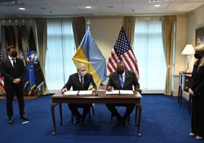 Министр обороны Андрей Таран и глава Пентагона Ллойд Остин подписали соглашение