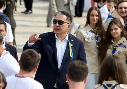 Михаил Саакашвили во время мероприятий по случаю Дня Независимости Украины в Киеве, 24 августа 2020 г.