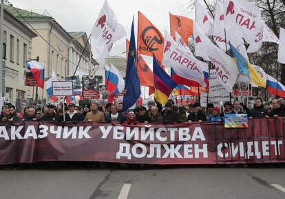 Марш пам'яті Нємцова в Москві, 2020 рік
