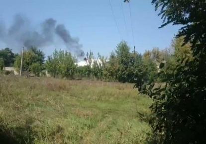 На оккупированном Донбассе произошел взрыв на нефтебазе (скриншот видео)