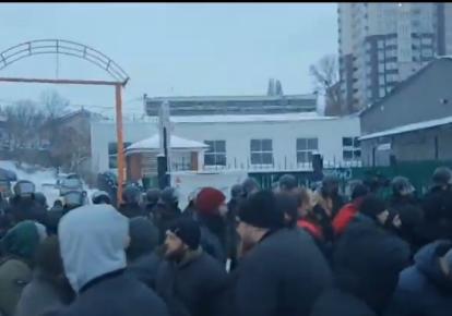 Столкновения в Тверском переулке