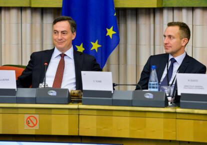 Депутати Європарламенту Девід Маккалістер і Томас Тобэ. Фото: прес-служба ЄП