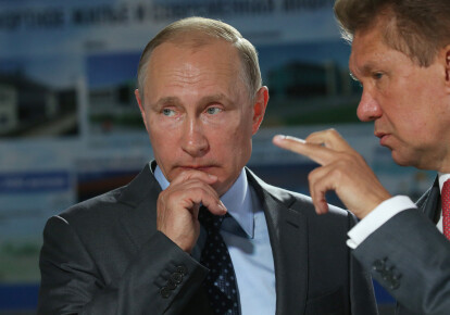 "Президент РФ Владимир Путин и глава ""Газпрома"" Алексей Миллер"