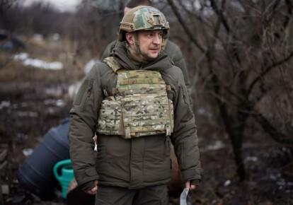Владимир Зеленский в бронежилете