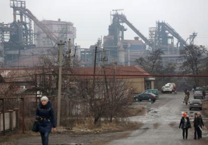 Енакиево, металлургический завод (оккупированная часть Донецкой области)