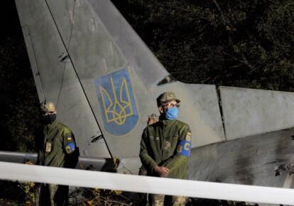 Место падения военного самолета Ан-26 в Харьковской области