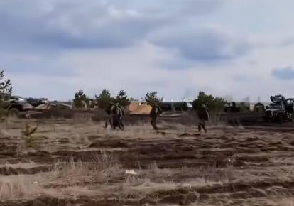 Российские военные на границе с Украиной