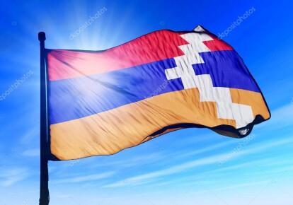 Флаг непризнанной республики Нагорный Карабах