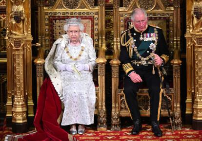 Королева Єлизавета II та принц Чарльз