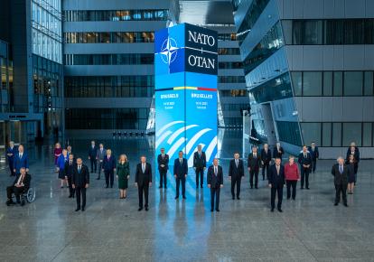 Лідери країн-учасниць НАТО під час саміту в Брюсселі