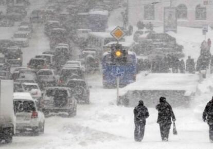 Снегопады в украинской столице