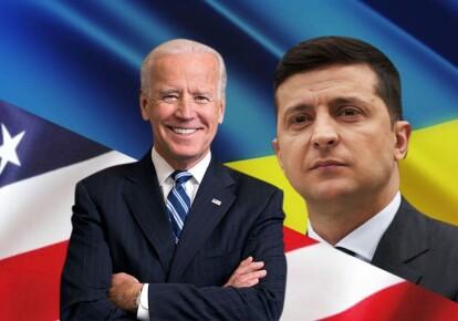 Президент США Джо Байден і український лідер Володимир Зеленський