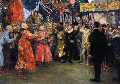Польские послы у Генриха Валуа, картина Теодора Аксентовича