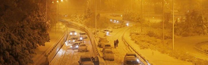 Хаос в Мадриде: Испанию накрыли рекордные снегопады и морозы (ФОТО, ВИДЕО)