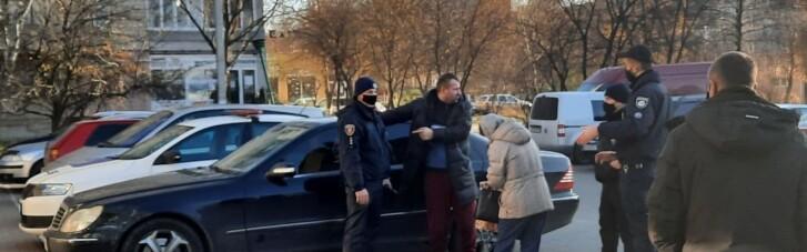 В Луцке мужчина подрался с полицией из-за отсутствия маски (ФОТО)