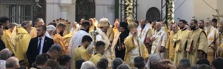 Вселенский Патриарх с митрополитом Епифанием отслужили соборную литургию в Софии Киевской (ФОТО, ВИДЕО)