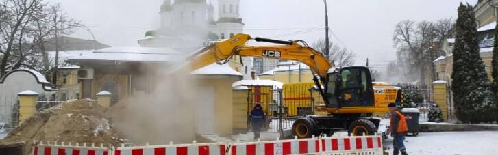 В Киеве возле Лавры произошла авария: без тепла остались почти 90 домов